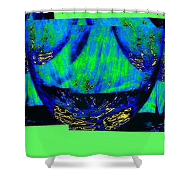 Wine And Dine 3 Shower Curtain by Will Borden