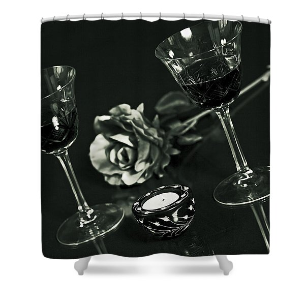 Wine For Two Shower Curtain by Joana Kruse