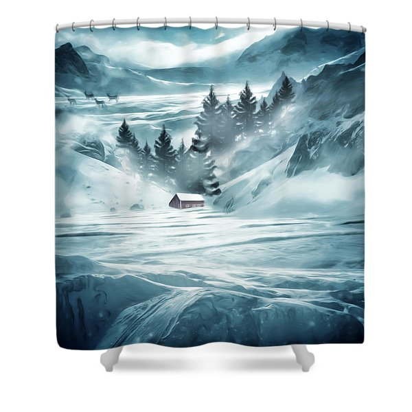 Winter Seclusion Shower Curtain by Lourry Legarde
