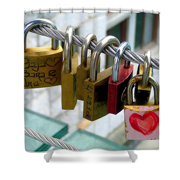 With All My Heart Shower Curtain by Carla Parris