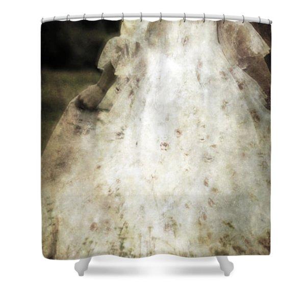 woman in a meadow Shower Curtain by Joana Kruse