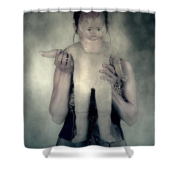 woman with doll Shower Curtain by Joana Kruse
