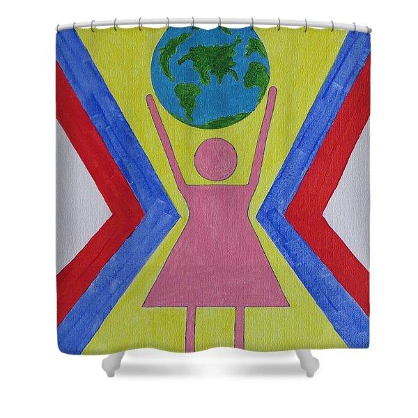 Women Rule The World Shower Curtain by Sonali Gangane