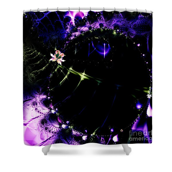 Wormhole Beyond . Square . S4a.S10 Shower Curtain by Wingsdomain Art and Photography