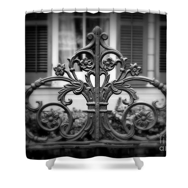 Wrought Iron Detail Shower Curtain by Perry Webster