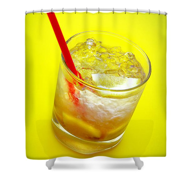 Yellow Caipirinha Shower Curtain by Carlos Caetano