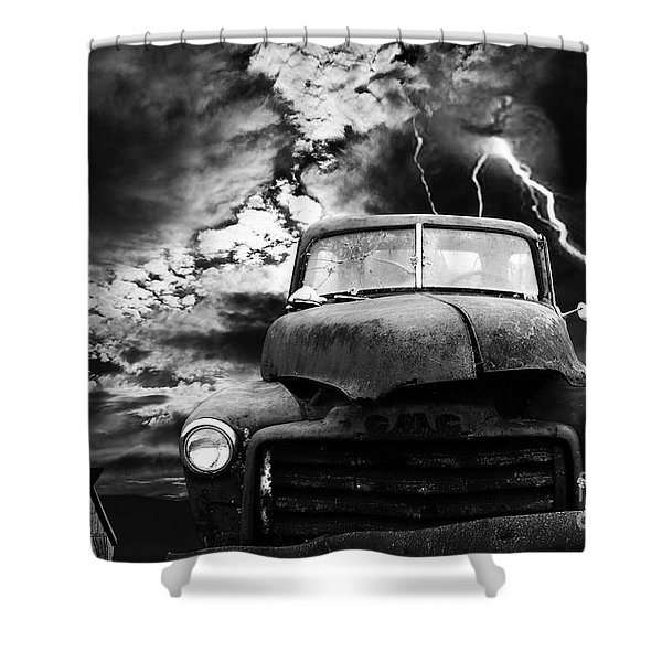 Yesterday Came Early . Tomorrow Is Almost Over . Bw Shower Curtain by Wingsdomain Art and Photography
