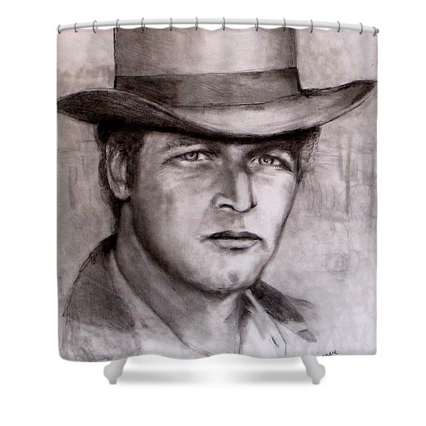 Butch Cassidy Shower Curtain by Jack Skinner
