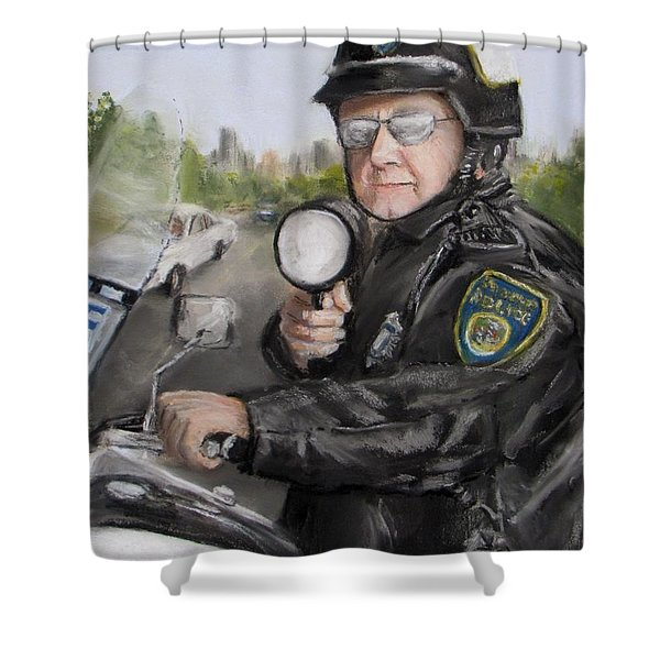 Gotcha Shower Curtain by Jack Skinner