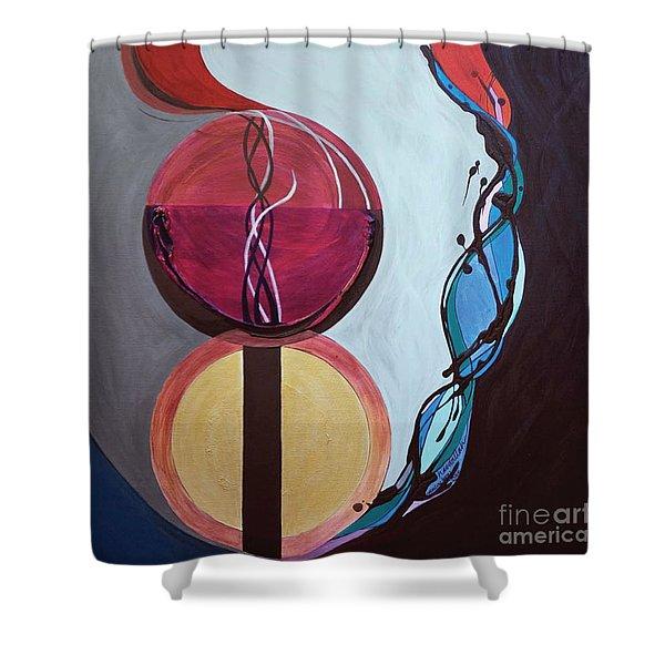 Havdallah...separation Shower Curtain by Marlene Burns