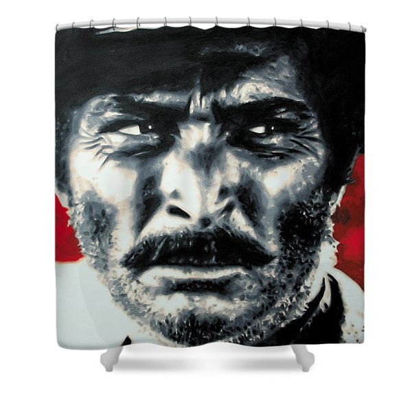 - The Good The Bad and The Ugly - Shower Curtain by Luis Ludzska
