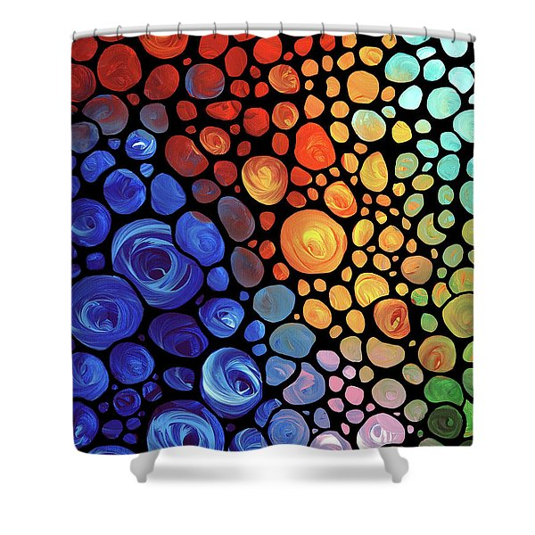 Abstract 1 Shower Curtain by Sharon Cummings