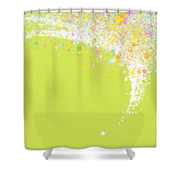 Abstract curved Shower Curtain by Setsiri Silapasuwanchai