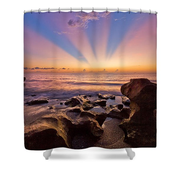 Coral Cove Shower Curtain by Debra and Dave Vanderlaan