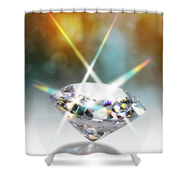 Diamond Shower Curtain by ATIKETTA SANGASAENG
