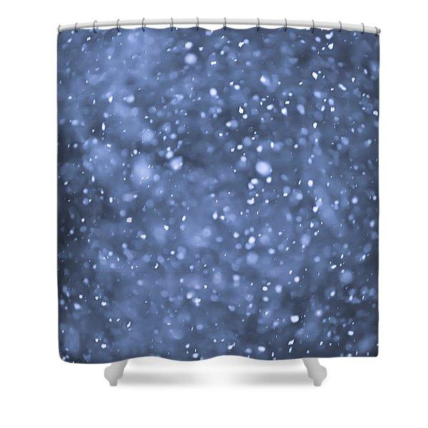 Evening snow Shower Curtain by Elena Elisseeva