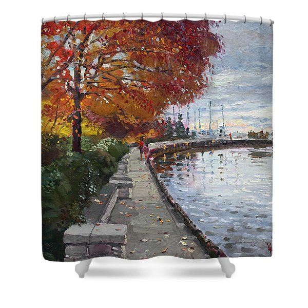 Fall in Port Credit ON Shower Curtain by Ylli Haruni