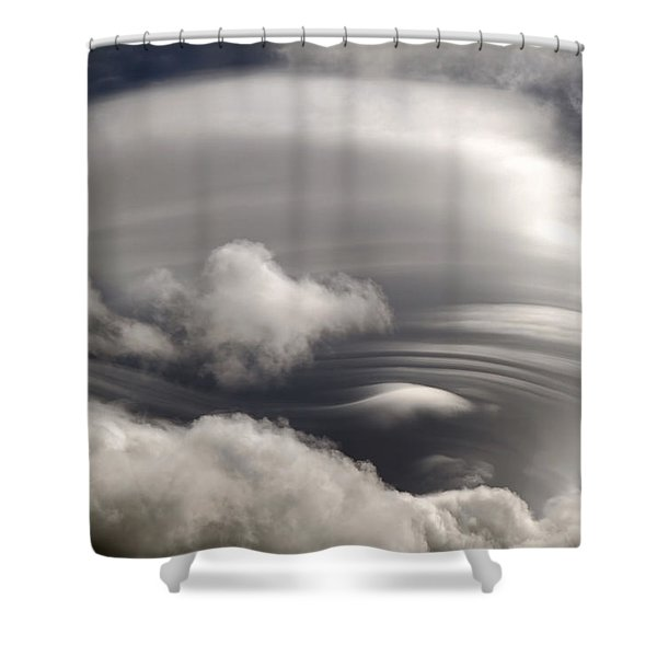 Lenticular Clouds Shower Curtain by Donna Kennedy