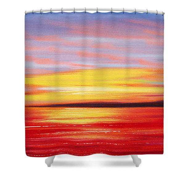 Shower Curtains - Magic at Sunset Shower Curtain by Gina De Gorna