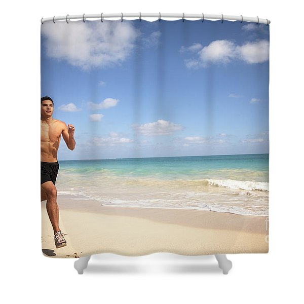 Male Runner Shower Curtain by Sri Maiava Rusden - Printscapes