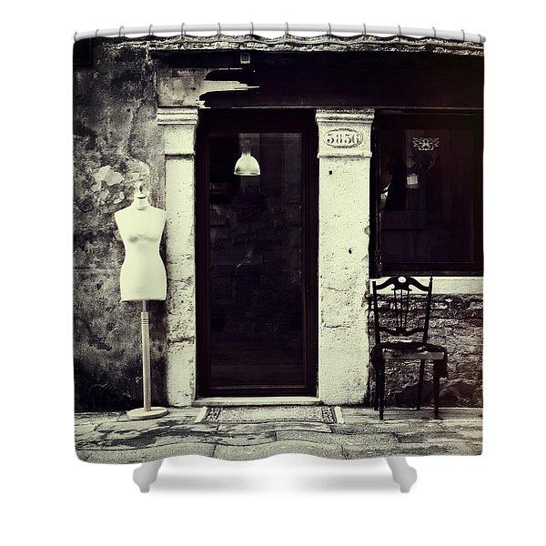 Mannequin Shower Curtain by Joana Kruse
