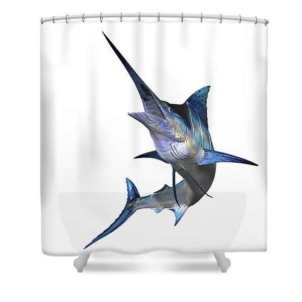Marlin Shower Curtain by Corey Ford