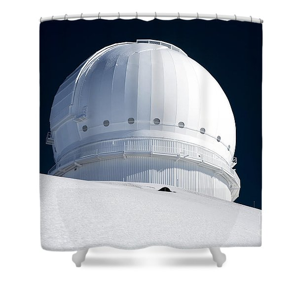 Mauna Kea Observatory Shower Curtain by Peter French - Printscapes