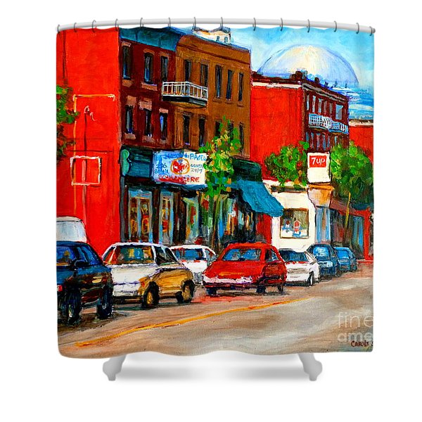 MONTREAL PAINTINGS Shower Curtain by CAROLE SPANDAU