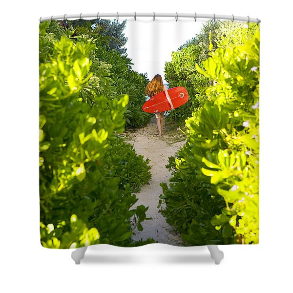 On Vacation Shower Curtain by Dana Edmunds - Printscapes