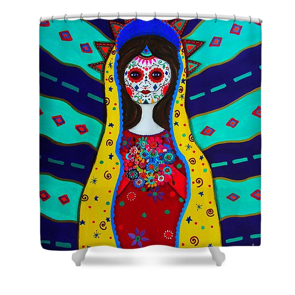Our Lady Of Guadalupe Shower Curtain by Pristine Cartera Turkus
