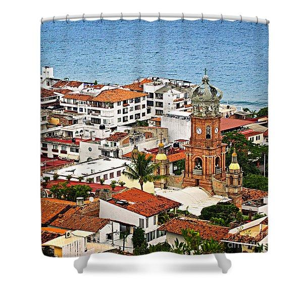 Puerto Vallarta Shower Curtain by Elena Elisseeva