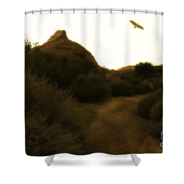 Red-tailed Hawk At Coyote Hills California . 7d11018 Shower Curtain by Wingsdomain Art and Photography