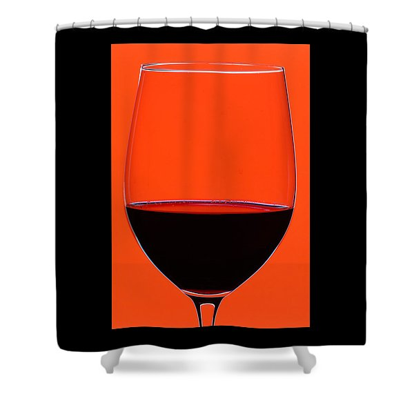 Red Wine Glass Shower Curtain by Frank Tschakert