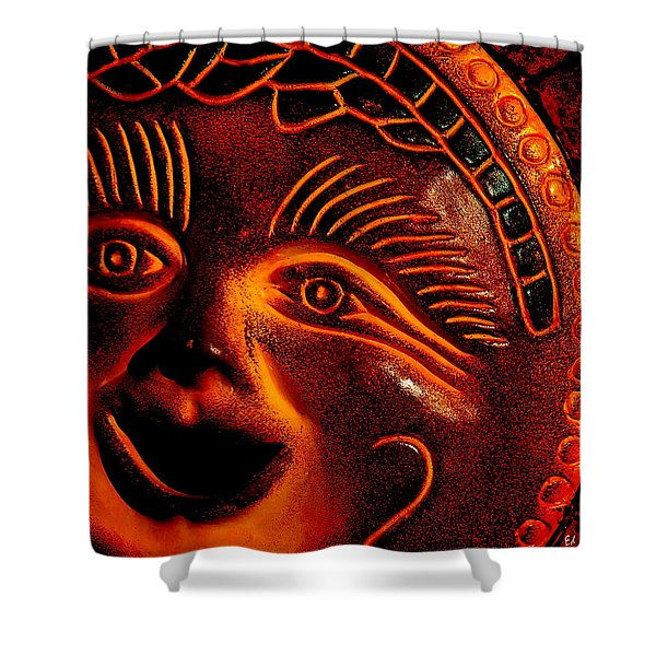 Sun Burn Shower Curtain by Ed Smith