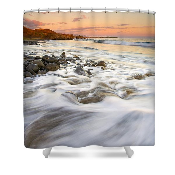 Sunset Tides Shower Curtain by Mike  Dawson