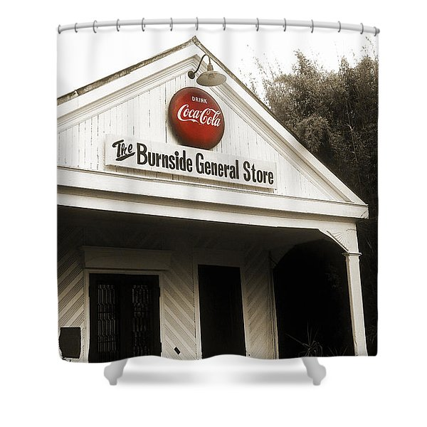 The Burnside General Store Shower Curtain by Scott Pellegrin
