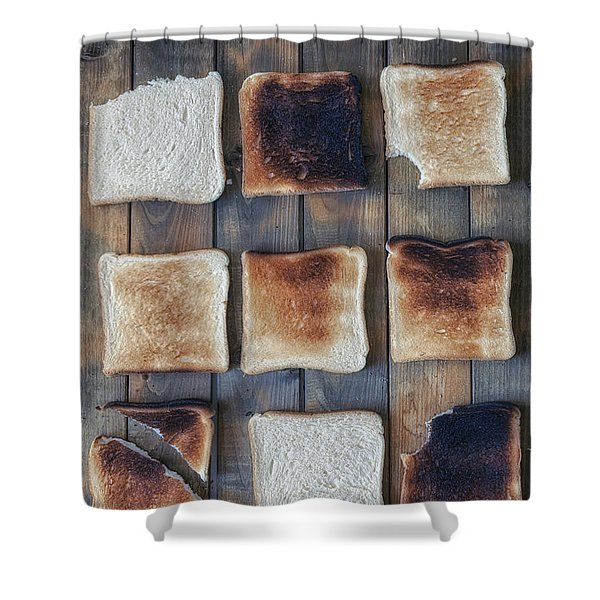 Toast Shower Curtain by Joana Kruse