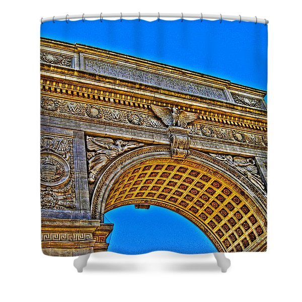Washington Square Arch Shower Curtain by Randy Aveille