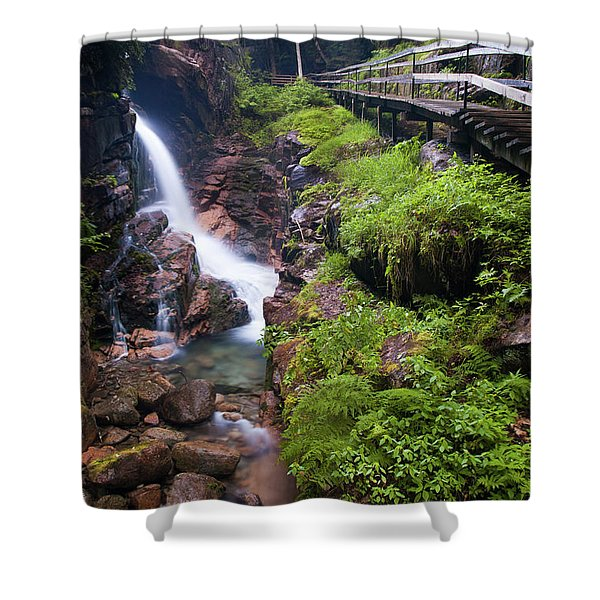 Waterfall  Shower Curtain by Sebastian Musial
