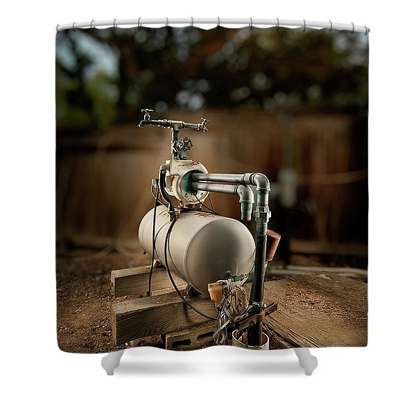 Well Pump Shower Curtain by Yo Pedro
