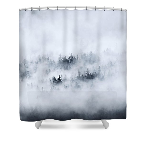 Winter Shower Curtain by Mike  Dawson