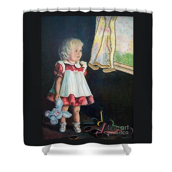 101 Imagination Girl Shower Curtain by Sigrid Tune
