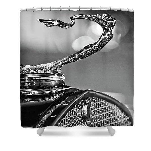 1930 Cadillac Roadster Hood Ornament 2 Shower Curtain by Jill Reger