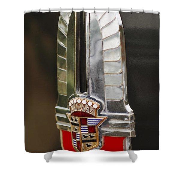1930's Cadillac Emblem Shower Curtain by Jill Reger