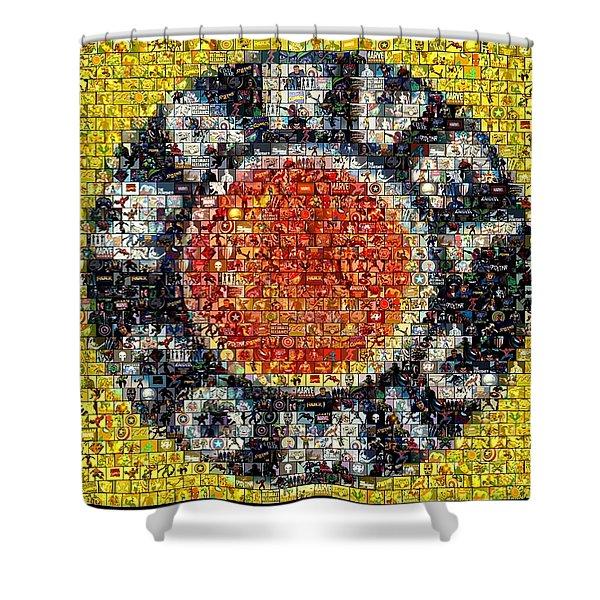 1930s Marvel Comics Mosaic Shower Curtain by Paul Van Scott
