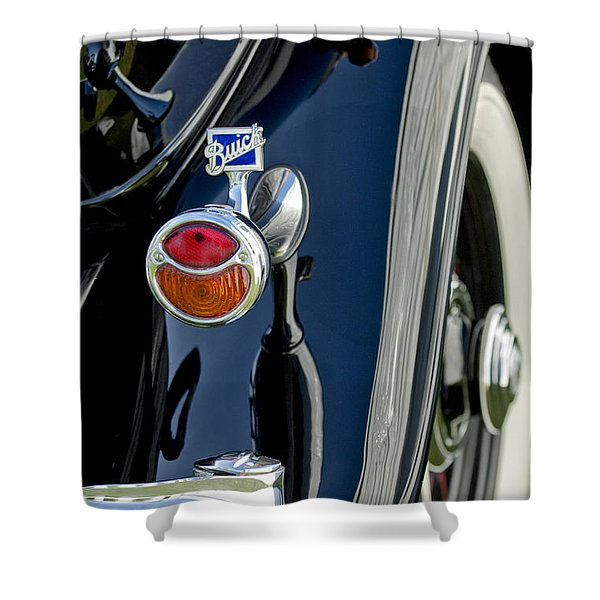 1932 Buick Series 60 Phaeton Taillight Shower Curtain by Jill Reger