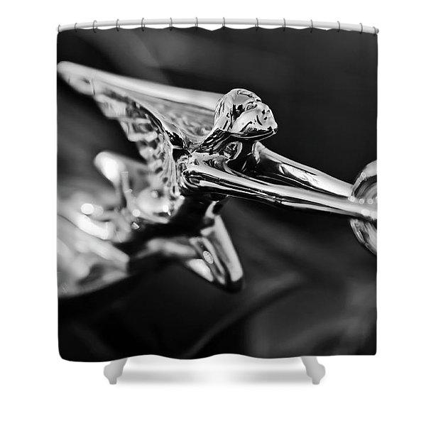 1934 Packard Hood Ornament 2 Shower Curtain by Jill Reger