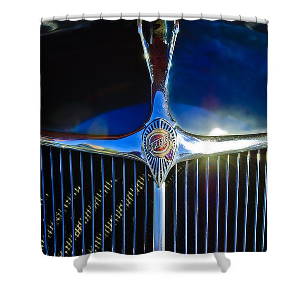 1935 Chrysler Hood Ornament 2 Shower Curtain by Jill Reger