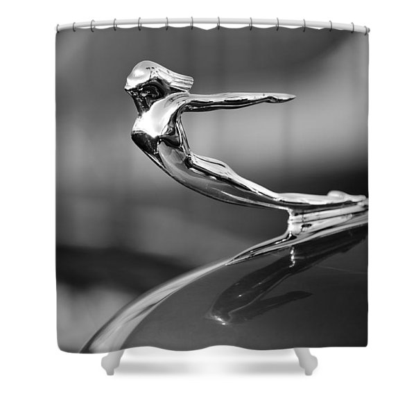 1936 Cadillac Hood Ornament 3 Shower Curtain by Jill Reger