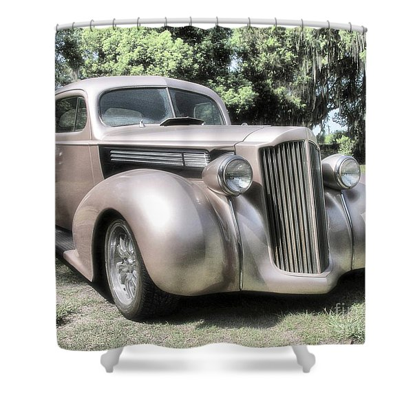 1939 Packard Coupe Shower Curtain by Richard Rizzo